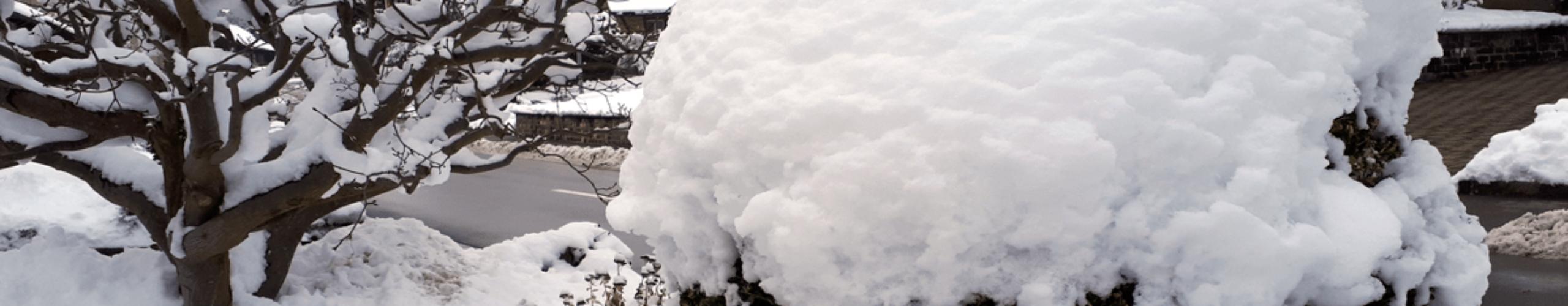 Einblick auf die Winterzeit des Gästehaus St. Michael